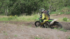 Stock Video Footage of Motocross rider slow motion 200 FPS