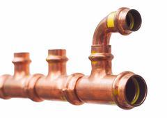 copper pipe - stock photo