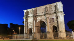 Arch of Constantine. Zoom. Rome, Italy. Time Lapse Stock Footage