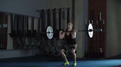 Overhead Squats Stock Footage