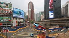 Kuala Lumpur Bukit Bintang intersection Stock Footage