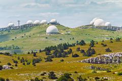 Crimean observatory on the plateau of Mountain Ai-Petri Stock Photos