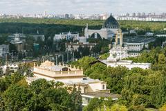 view from the heights the Exhibition Center in Moscow, Russia.r in Moscow - stock photo