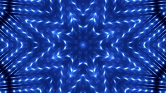 Background motion with fractal design. Blue Stock Footage