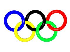 3D the image of Olympic rings Stock Illustration