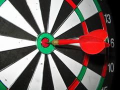 Photo of a target for darts. Stock Photos