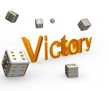 Victory&cube - stock photo