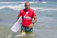 Stock Photo of Kelly Slater in the Quiksilver Pro at Snapper Rocks