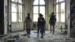 Ghetto kids play young kids dances in the ghetto neighborhood having fun - stock footage