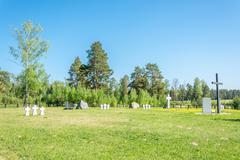 German prisoners of war cemetery in the city Lezhnevo Ivanovo re - stock photo