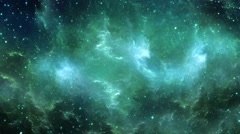 Space Nebula Flight Seamlessly Looped Background Stock Footage