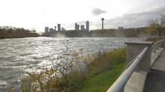 American Falls with Canada in the background Stock Footage
