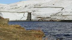 Dovestone reservoir in winter Stock Footage