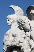 Statue on Victor Emmanuel II bridge in Rome Stock Photos