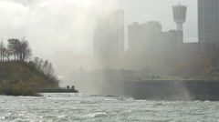 The American Falls with Canada in the background Stock Footage