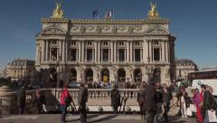 Time lapse Paris Opera subway station, Palais Garnier Stock Footage