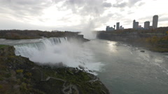 Panoramic 4K view of Niagara Falls Stock Footage