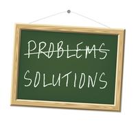 Problems and solutions Stock Illustration