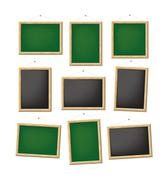 blank boards - stock illustration