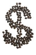Coffey dolar $ sign - stock photo
