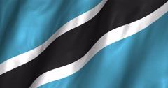 Botswana Waving Flag-4K Stock Footage