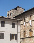 Colle di Val d'Elsa (Tuscany), historic palace - stock photo