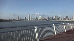 View of Casco Viejo and downtown, Panama City, Panama Stock Footage