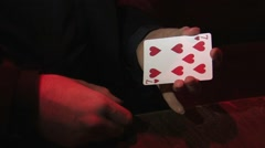 Magic - Magician Performs Card Trick HD 03 Stock Footage