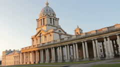 Chapel at the Old Royal Naval College 1 Stock Footage