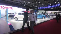Auto salon Stock Footage