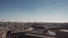 Roofs of Paris pan movement to Paris Opera and Eiffel tower - 1080p Stock Footage