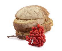 bread and rowan - stock photo