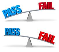 Stock Illustration of Pass or Fail Set