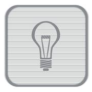 Lightbulb. character ideas. incandescent lamp . icon of electric light Stock Illustration