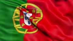 4K Flag of Portugal seamless loop Ultra-HD Stock Footage