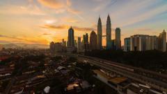 Kuala Lumpur Sunrise Timelapse - 4K resolution Stock Footage