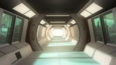 Futuristic scifi interior Stock Footage