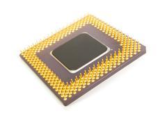 Bottom of a computer processor chip Kuvituskuvat