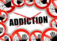 Stop addiction problems Stock Illustration