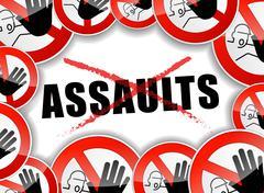 stop assaults problems - stock illustration
