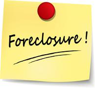 Foreclosure yellow note Piirros