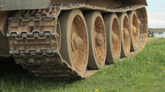 Caterpillar track Stock Footage