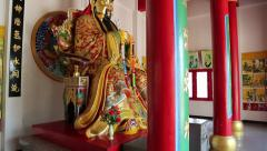 Interior of buddhist temple on Pratumnak Hill in Pattaya, Thailand Stock Footage