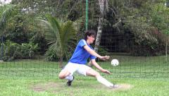 Soccer Goalie, Player, Futbol, Sports Stock Footage