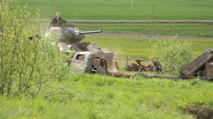 Moving tank Stock Footage