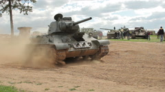 Old tank Stock Footage