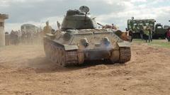 Russian tank T 34 Stock Footage