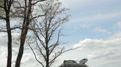 Tank near the tree Stock Footage