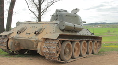 Tank rear view Stock Footage