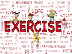 exercise - stock illustration